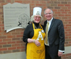 Alice G. Roess with Chancellor Peacock