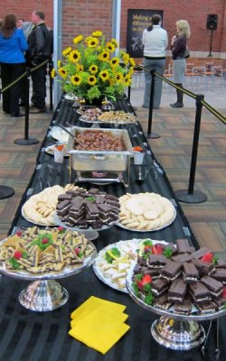 Food and refreshments table